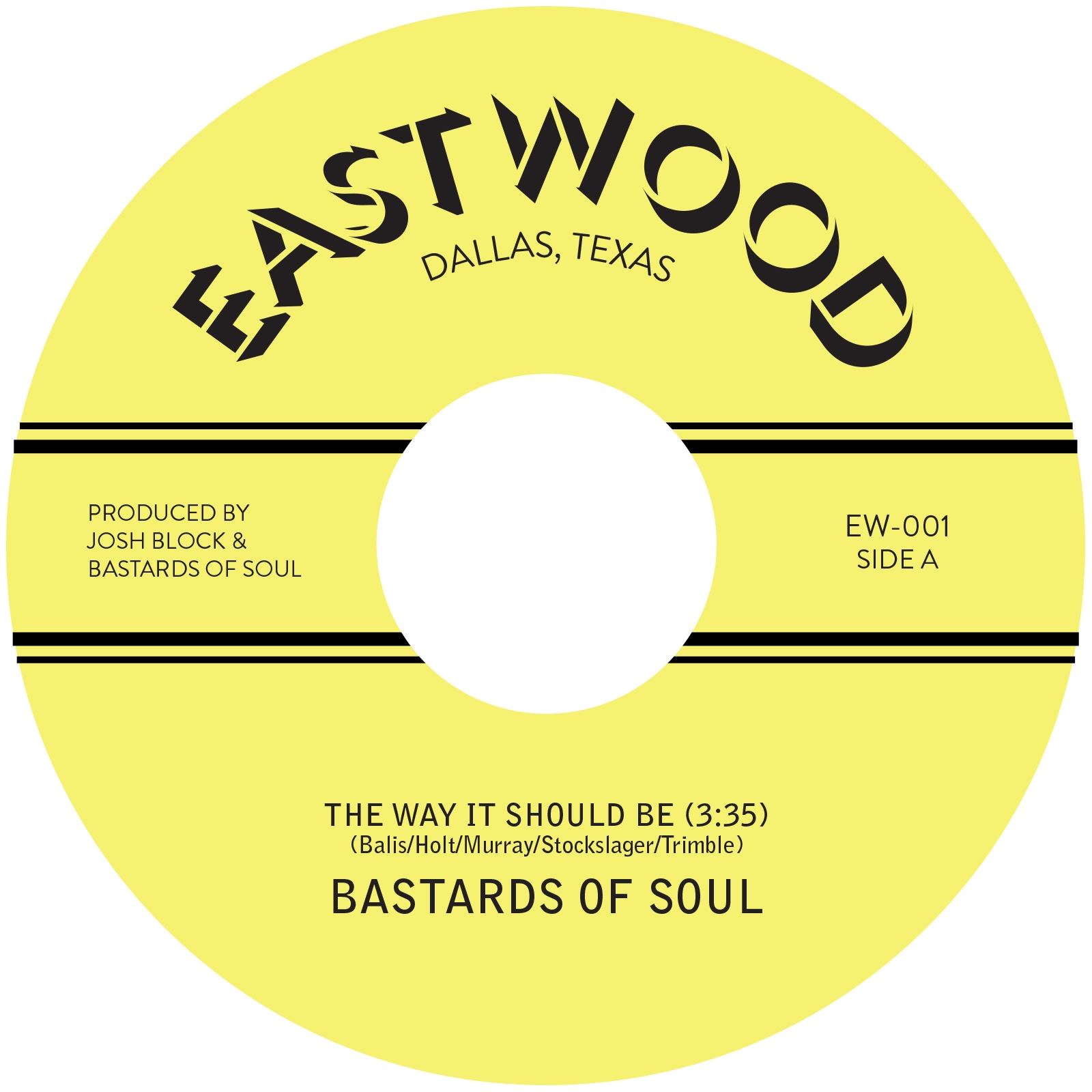 """Bastards Of Soul/THE WAY IT SHOULD BE 7"""""""