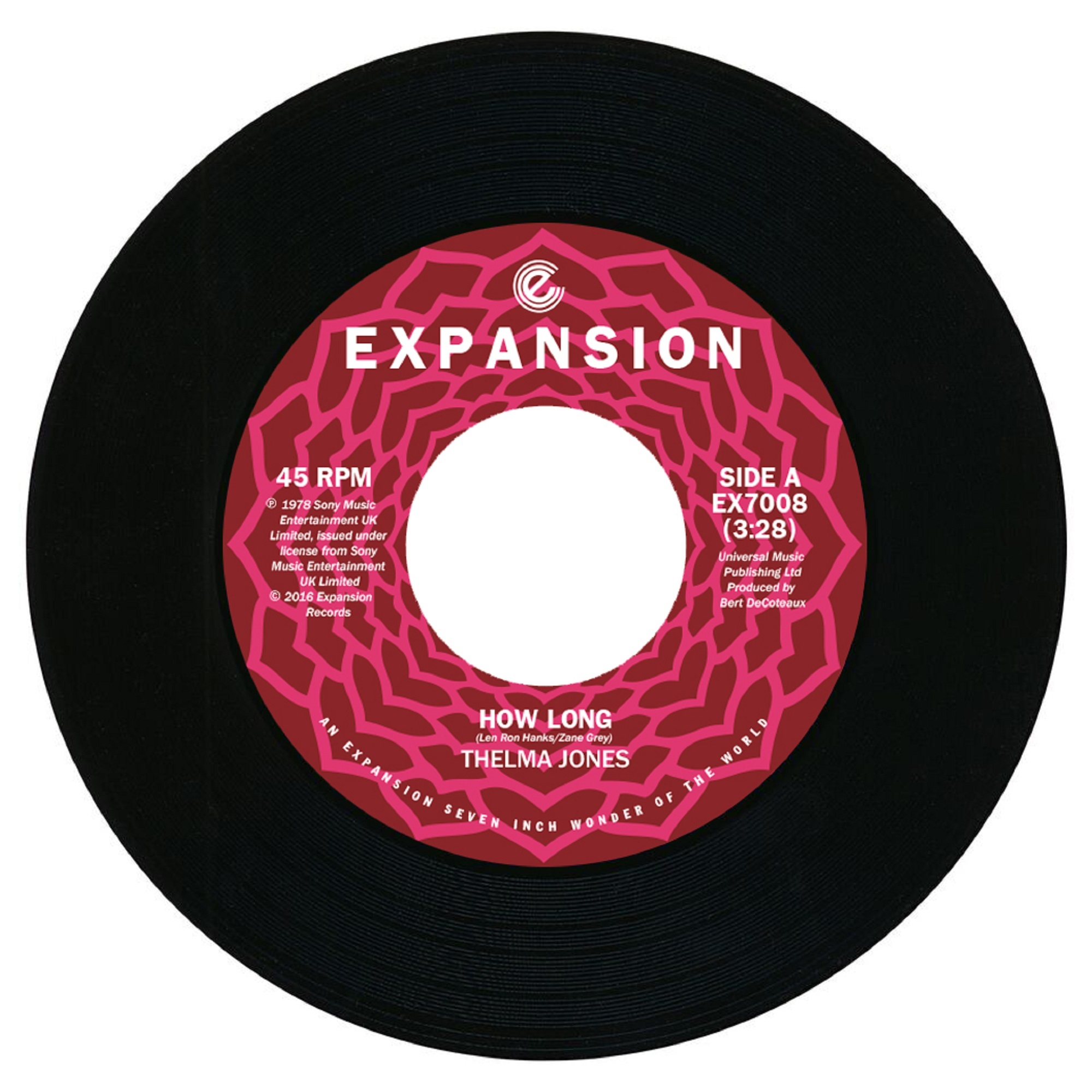 "Thelma Jones/HOW LONG & I WANT WHAT 7"""