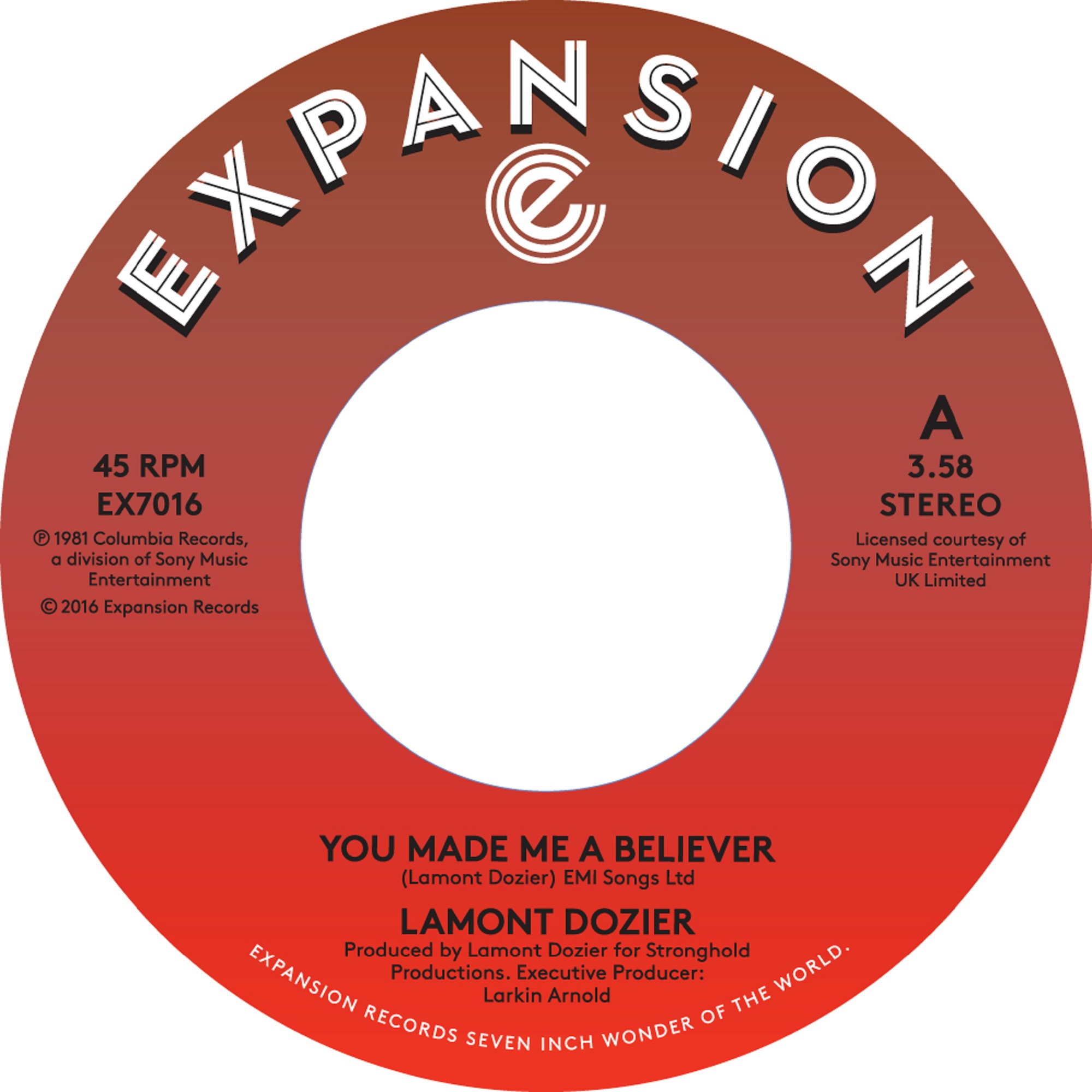 """Lamont Dozier/YOU MADE ME A BELIEVER 7"""""""