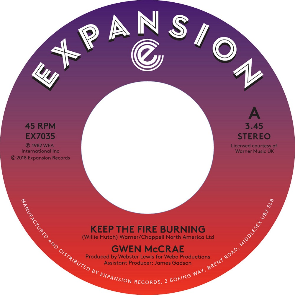 Gwen McCrae/KEEP THE FIRE BURNING 7""