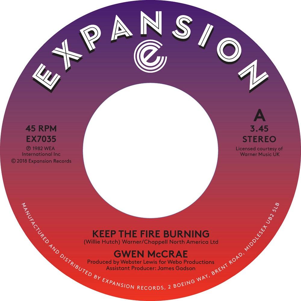 "Gwen McCrae/KEEP THE FIRE BURNING 7"""