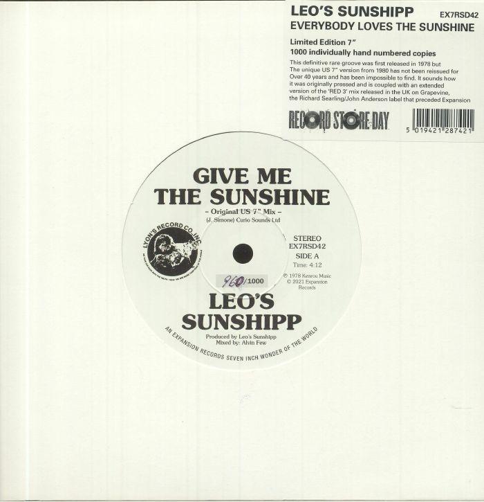 "Leo's Sunshipp/GIVE ME THE SUNSHINE 7"""