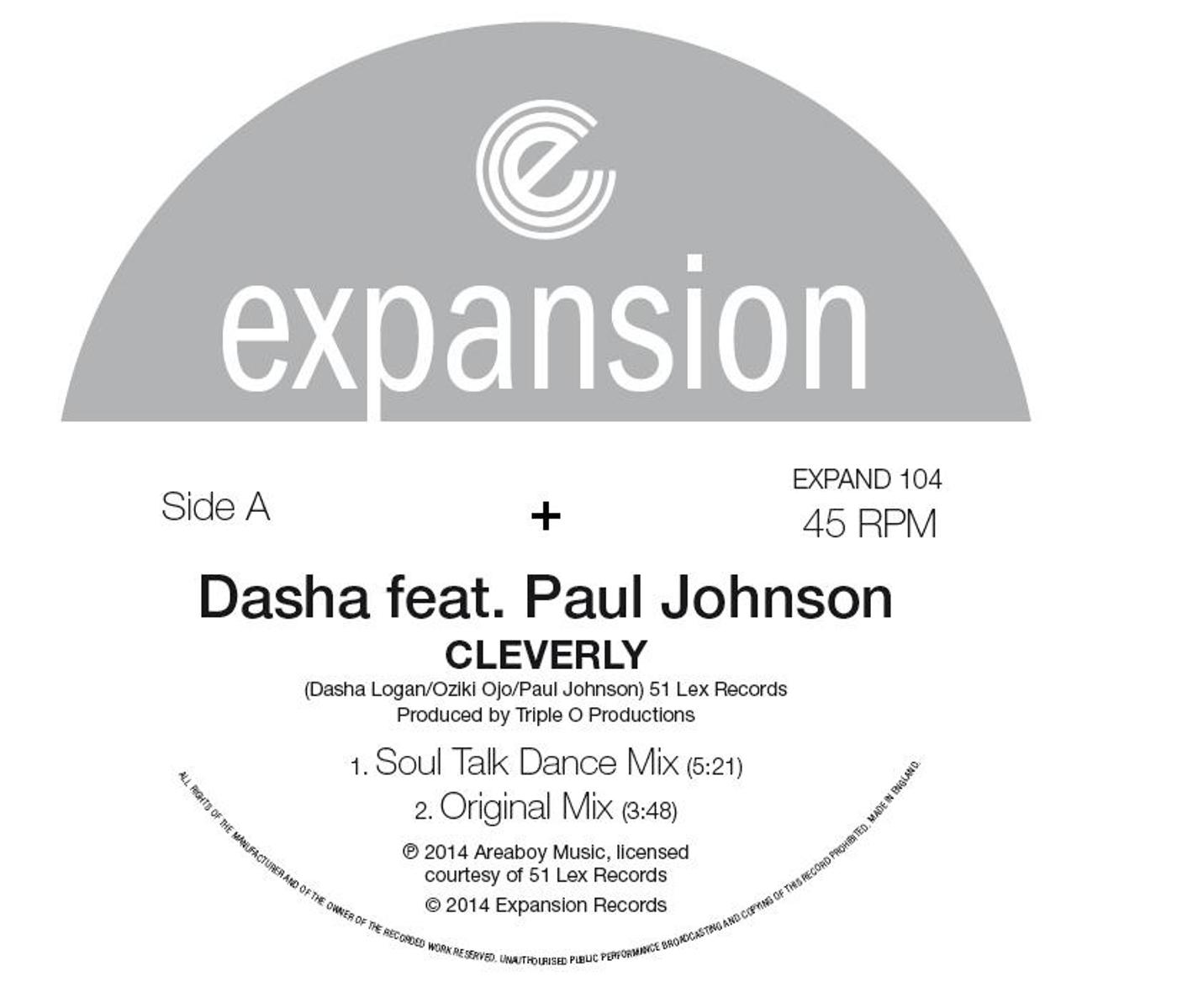 "Dasha & Paul Johnson/CLEVERLY 12"""