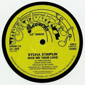 "Sylvia Striplin/GIVE ME YOUR LOVE 12"""