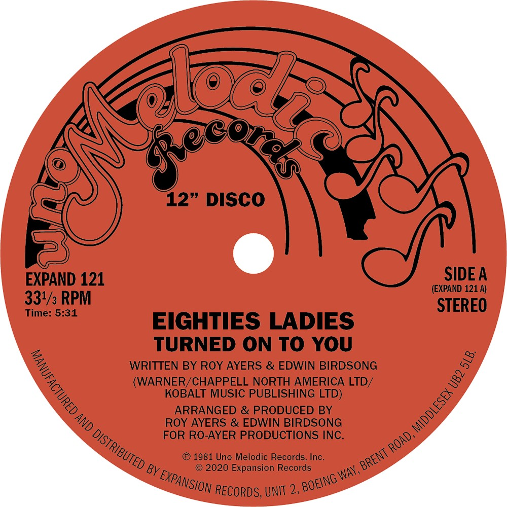 Eighties Ladies/TURNED ON TO YOU 12""