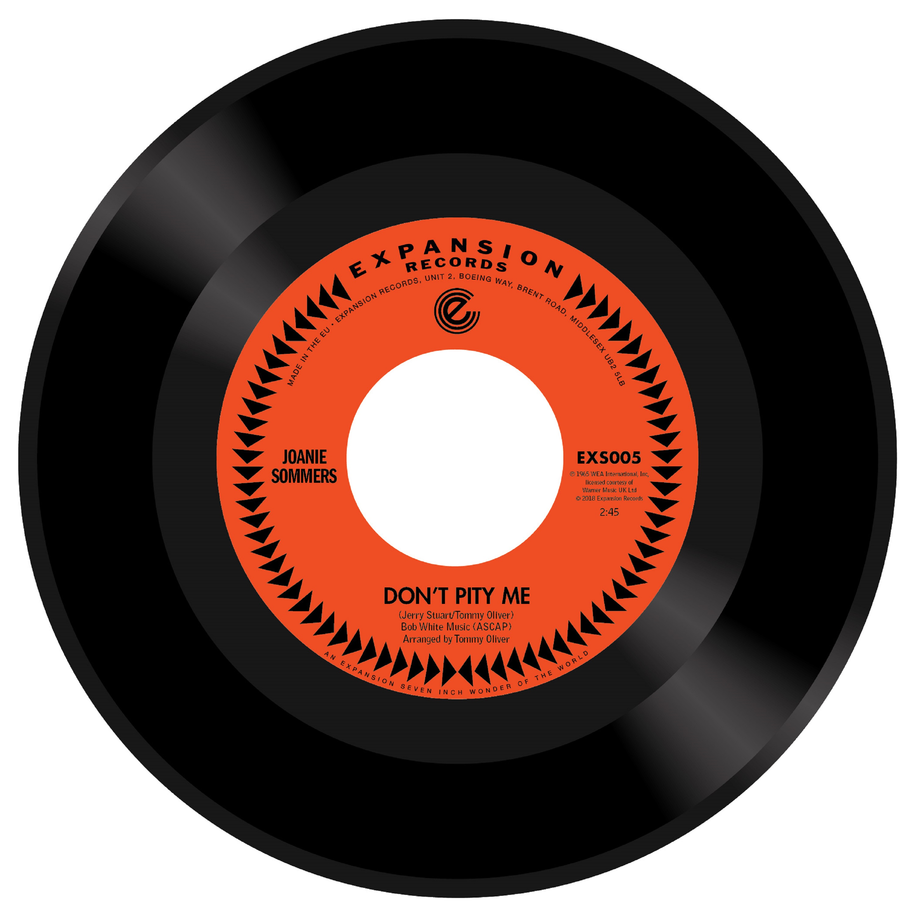 """Joanie Sommers/DON'T PITY ME 7"""""""