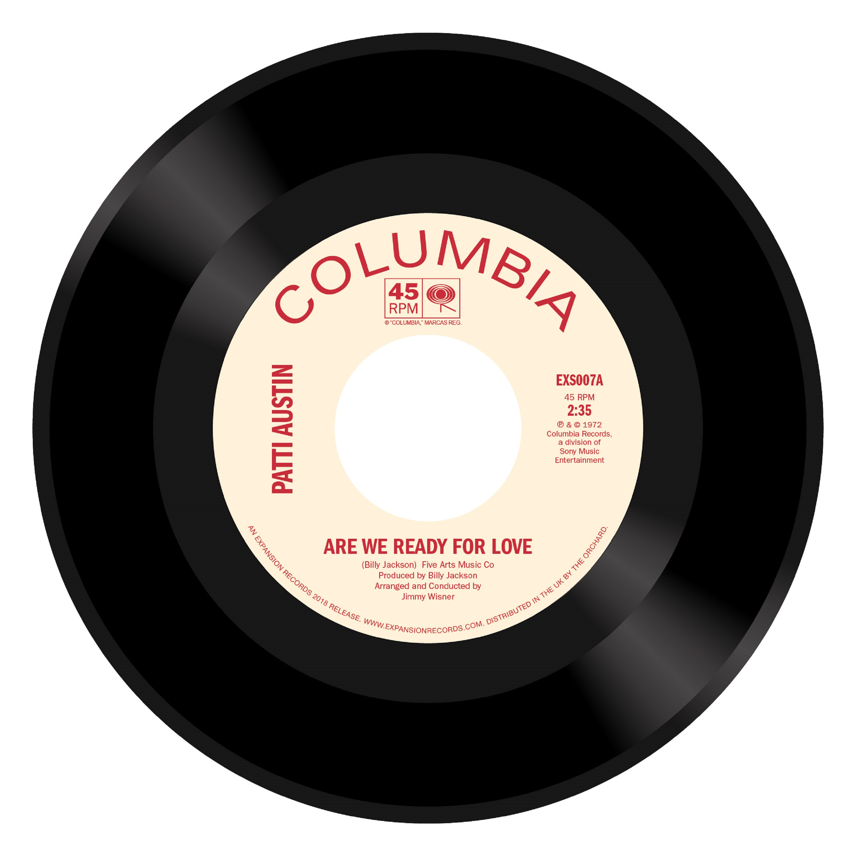 Patti Austin/ARE WE READY FOR LOVE 7""