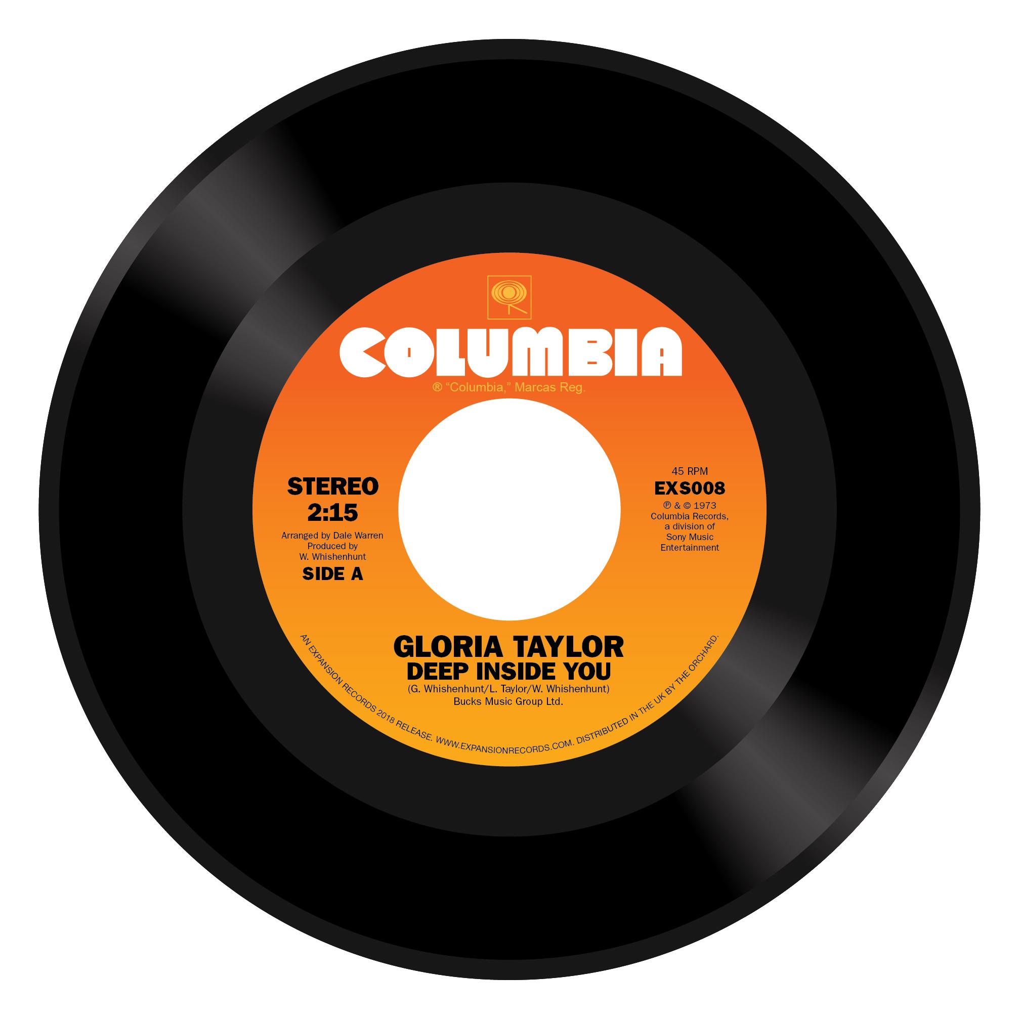 "Gloria Taylor/DEEP INSIDE YOU 7"""