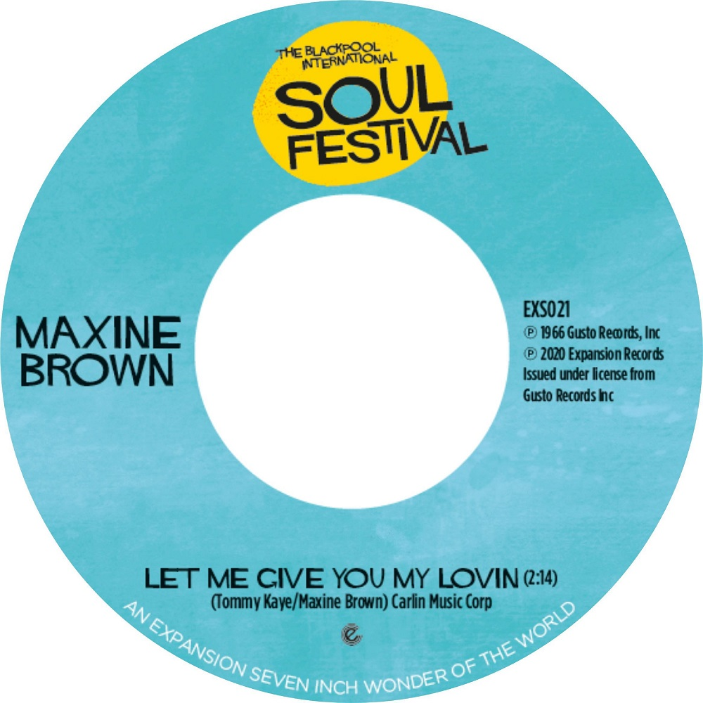 """Maxine Brown/LET ME GIVE YOU MY LOVIN 7"""""""