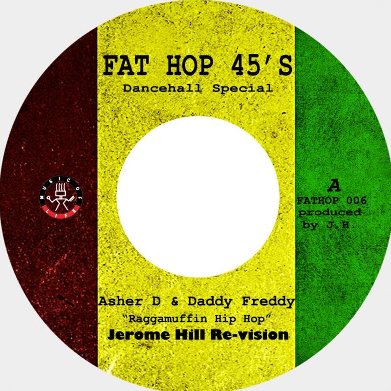 "Asher D & Daddy Freddy/MUFFIN HIP HOP 7"""