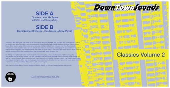 "Downtown Sounds/CLASSICS VOLUME 2 12"""
