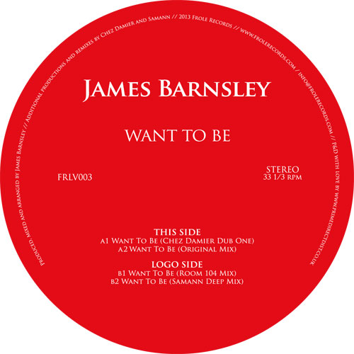 """James Barnsley/WANT TO BE 12"""""""