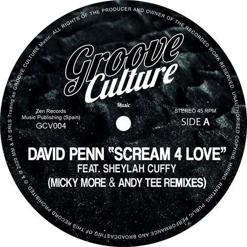 David Penn/SCREAM 4 LOVE-MM & AT RMX 12""