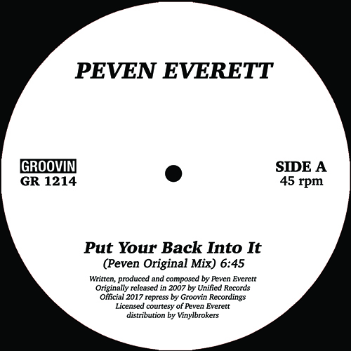 Peven Everett/PUT YOUR BACK INTO IT 12""