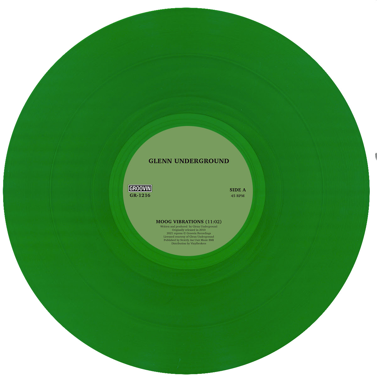 "Glenn Underground/MOOG... (GREEN) 12"""