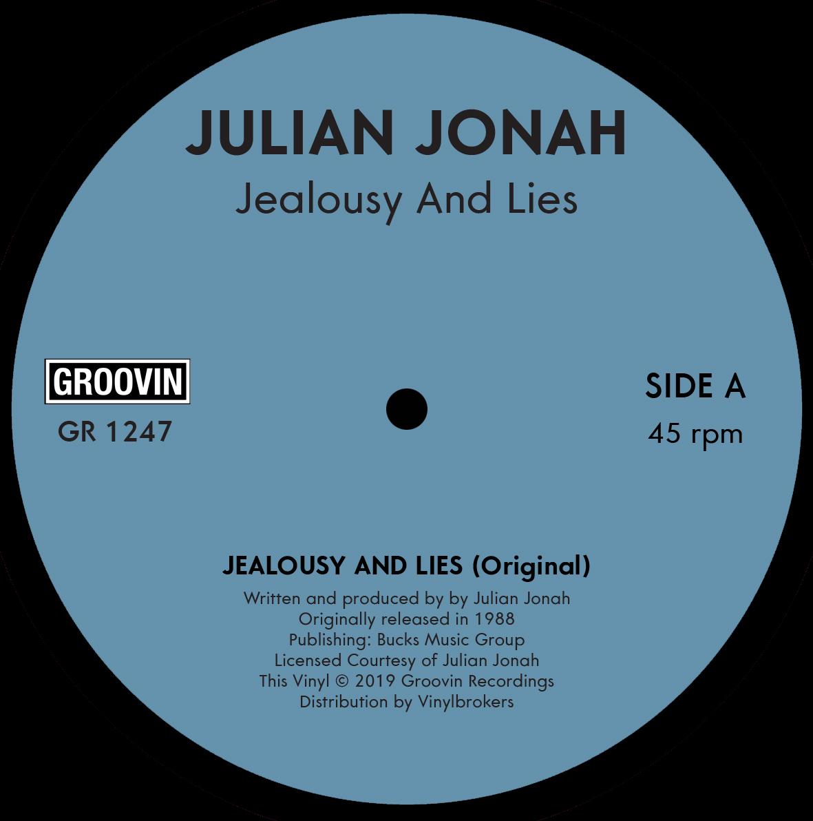 "Julian Jonah/JEALOUSY AND LIES 12"""