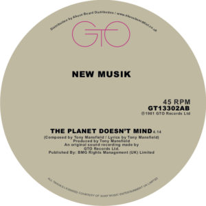 """New Musik/THE PLANET DOESN'T MIND 12"""""""