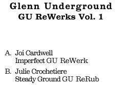 """Glenn Underground/REWERKS VOL. 1 12"""""""