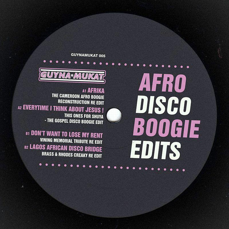 "Afro Disco Boogie Edits/EP VOLUME 5 12"""