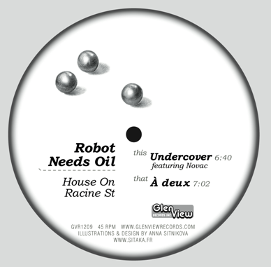 "Robot Needs Oil/HOUSE ON RACINE ST. 12"""