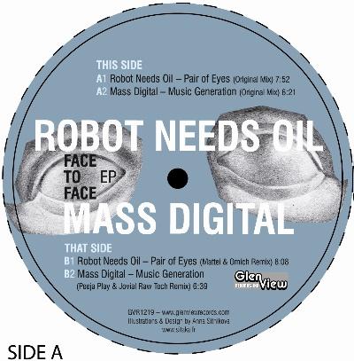 """Robot Needs Oil & Mass Digital/SPLIT 12"""""""