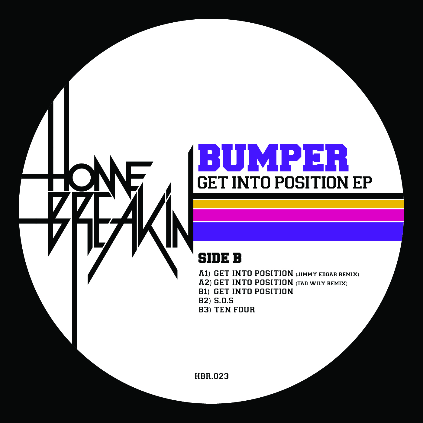 Bumper/GET INTO POSITION JIMMY EDGAR 12""
