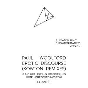 "Paul Woolford/EROTIC.. KOWTON REMIX 12"""