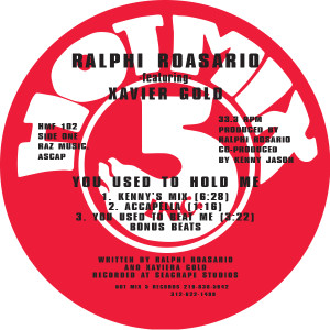 """Ralphi Rosario/YOU USED TO HOLD ME 12"""""""