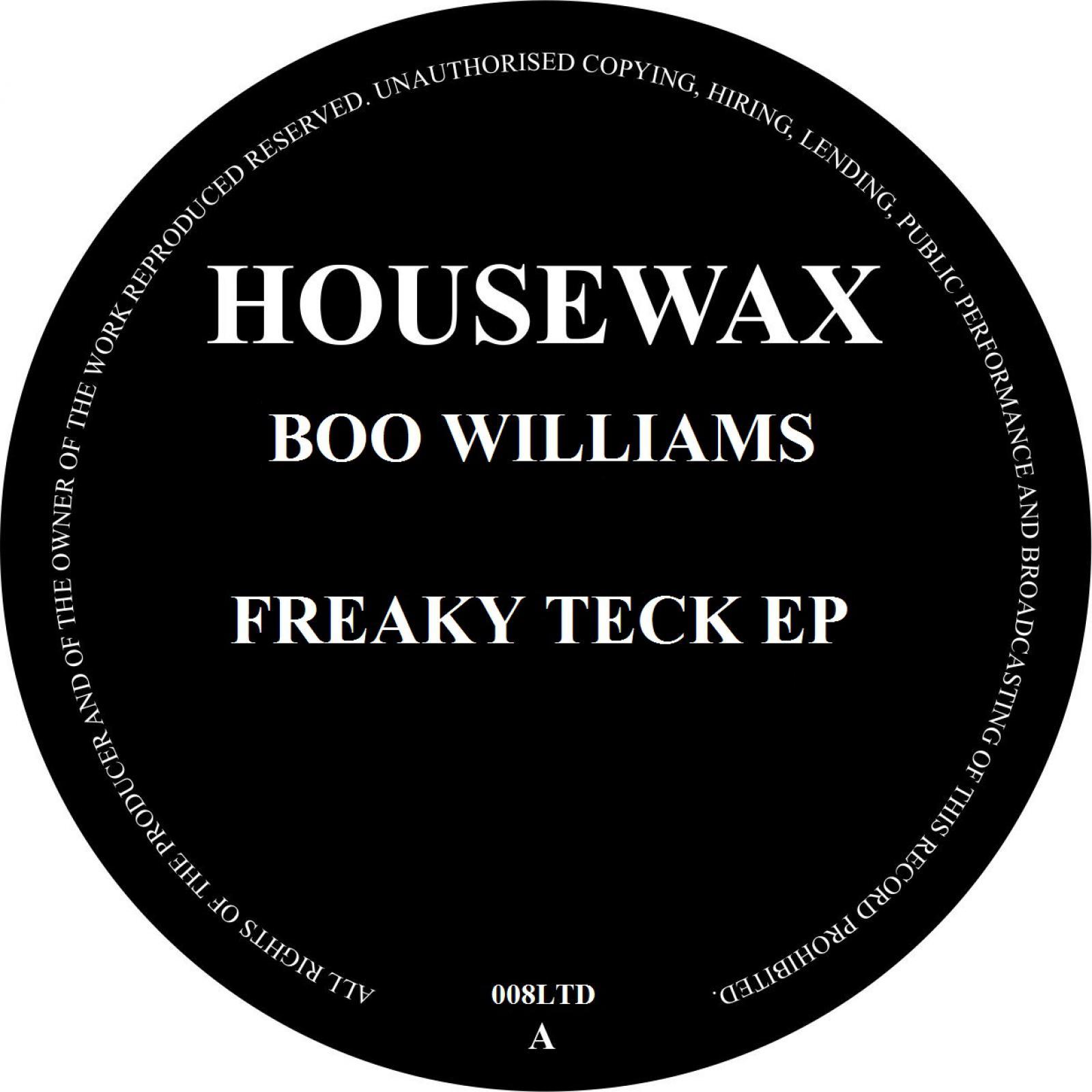 "Boo Williams/FREAKY TECK EP 12"""