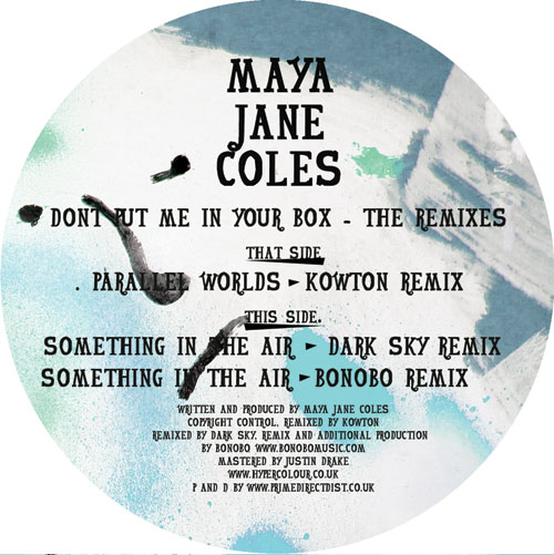"""Maya Jane Coles/DON'T PUT... REMIXES 12"""""""