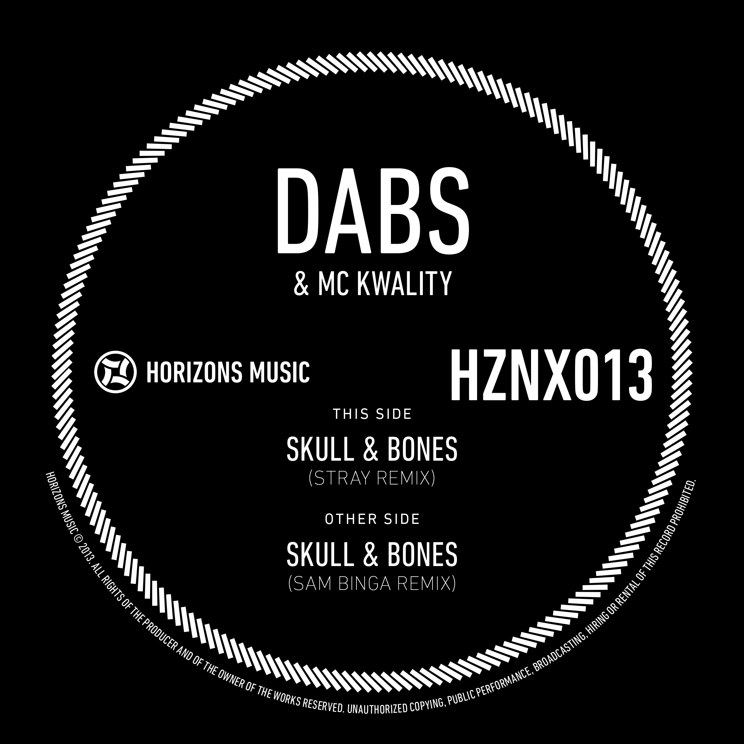 "Dabs/SKULL & BONES (STRAY REMIX) 12"""