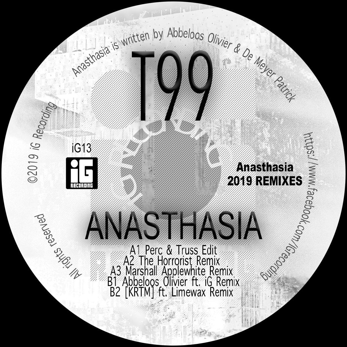 "T99/ANASTHASIA (2019 REMIXES) 12"""