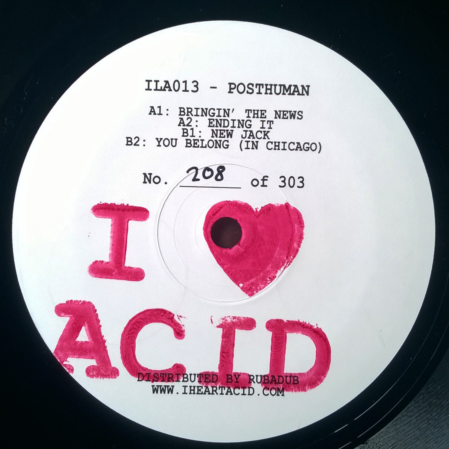 Posthuman/I LOVE ACID 013 12""