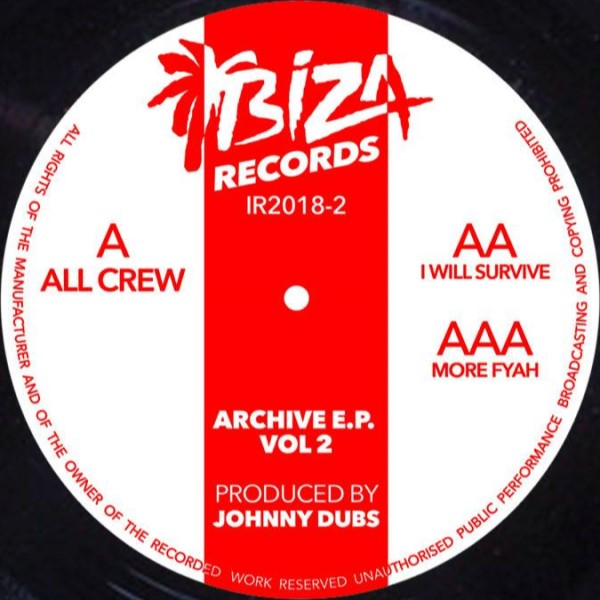 """Johnny Dubs/ARCHIVE VOL 2 12"""""""