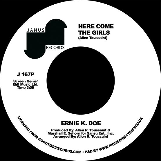 "Ernie K. Doe/HERE COME THE GIRLS 7"""
