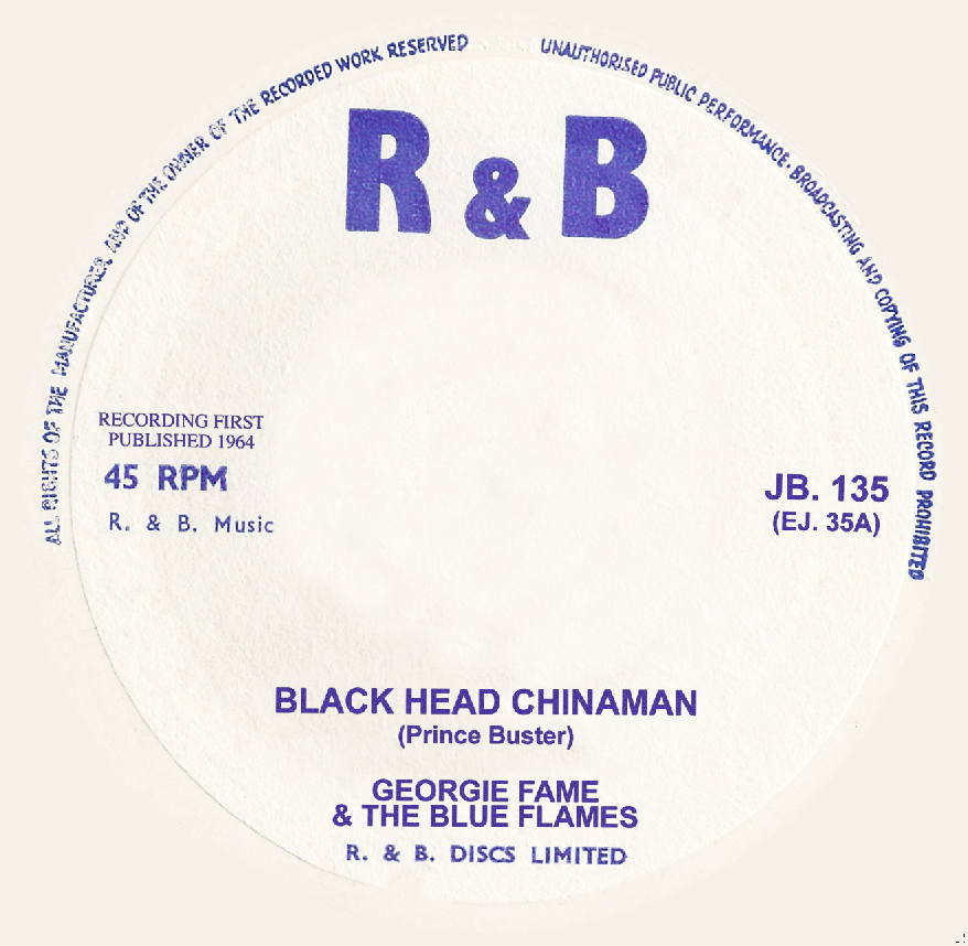 "Georgie Fame/BLACKHEAD(PRINCE BUSTER) 7"""