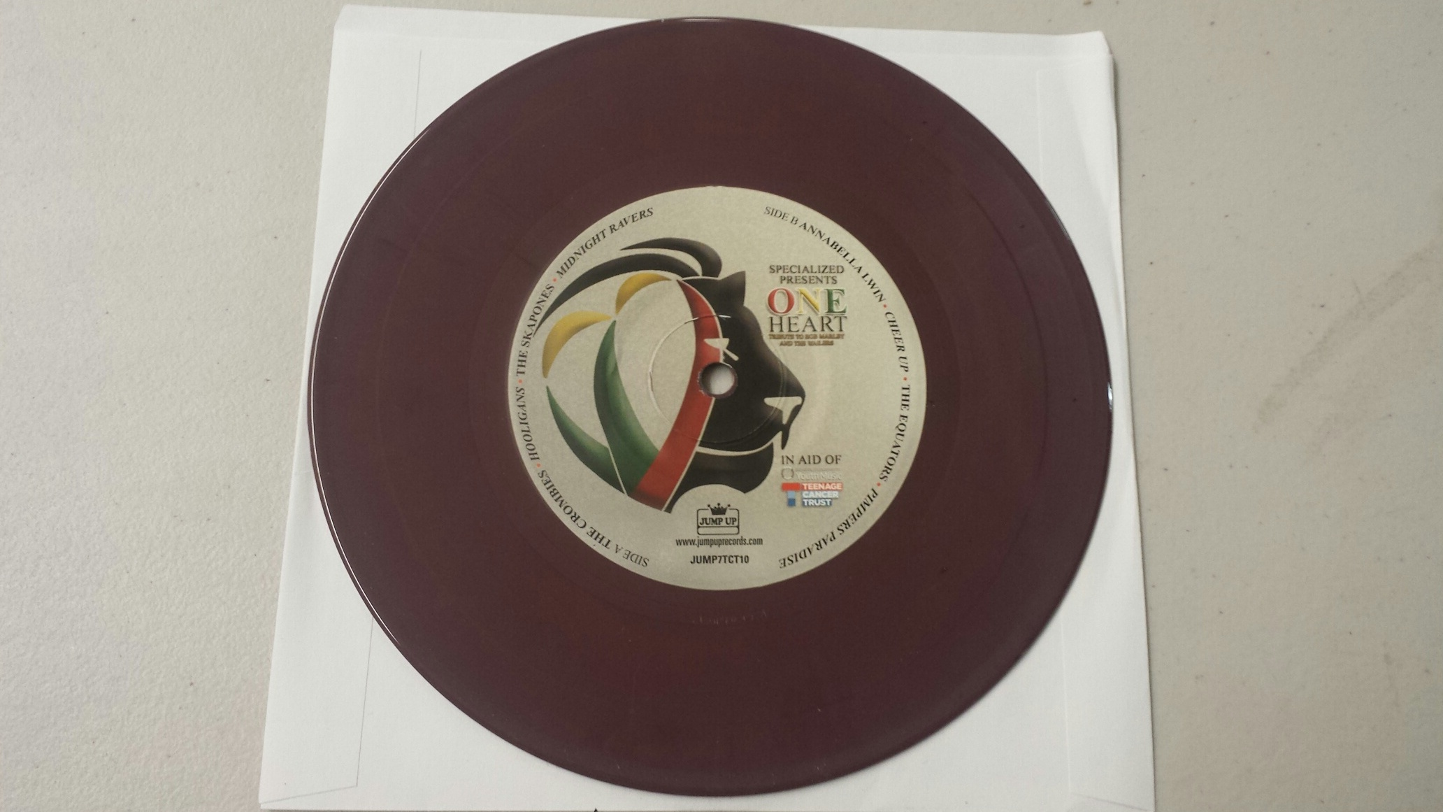 Marley Tribute/ONE HEART (2-TONE) 7""