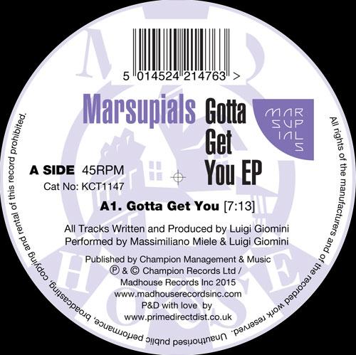 "Marsupials/GOTTA GET YOU EP 12"""