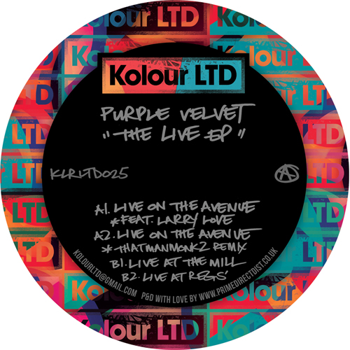 "Purple Velvet/THE LIVE EP 12"""