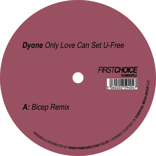 """Dyone/ONLY LOVE CAN.. (BICEP REMIX) 12"""""""