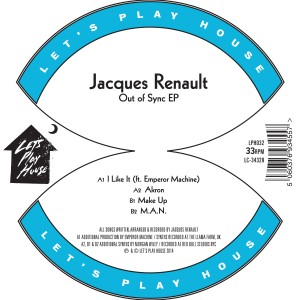 """Jacques Renault/OUT OF SYNC EP 12"""""""