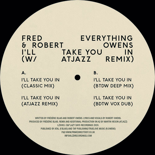 """Fred Everything/I'LL TAKE YOU IN 12"""""""