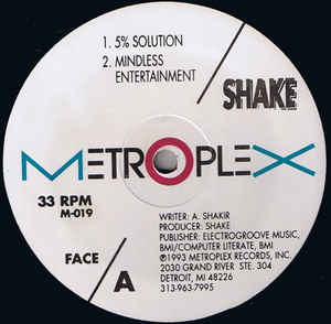 "Shake/5% SOLUTION 12"""