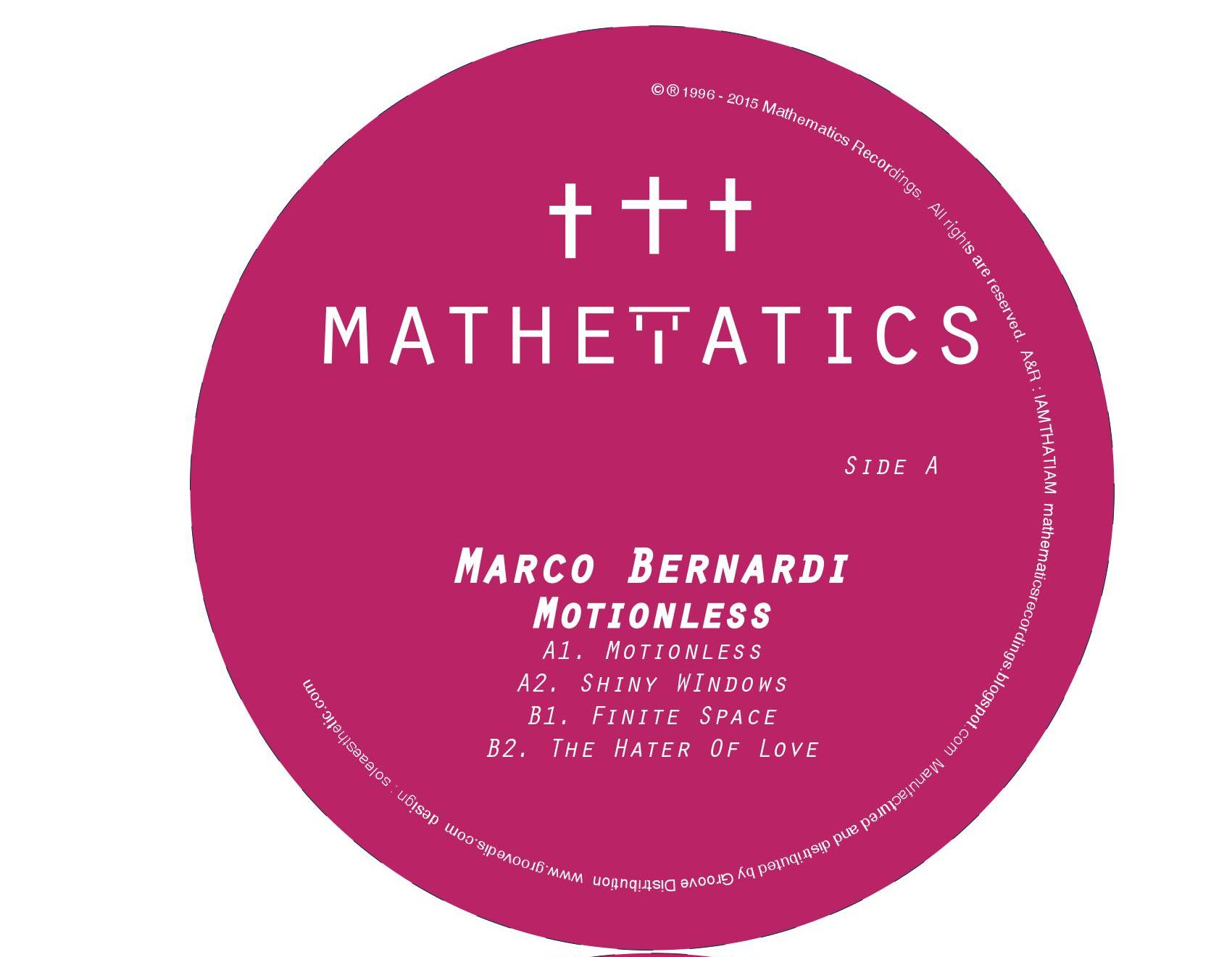 "Marco Bernardi/MOTIONLESS 12"""