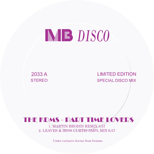 """KDMS/PART TIME LOVERS REMIXES 12"""""""