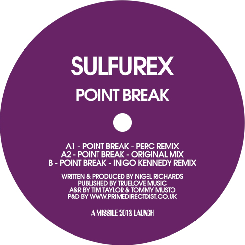 "Sulfurex/POINT BREAK (PERC REMIX) 12"""