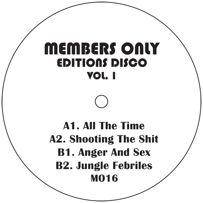 """Members Only/EDITIONS DISCO VOL. 1 D12"""""""