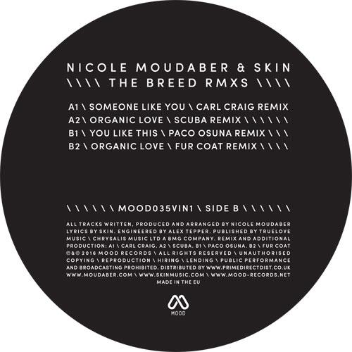 """N. Moudaber & Skin/THE BREED RMX #1 12"""""""