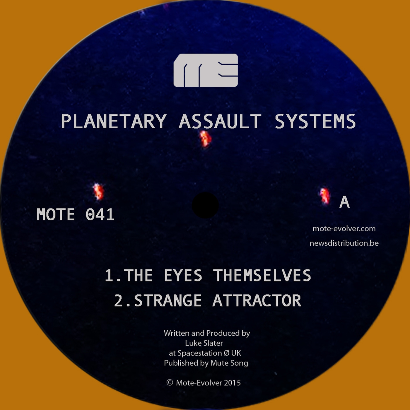 """Planetary A.S./THE EYES THEMSELVES 12"""""""