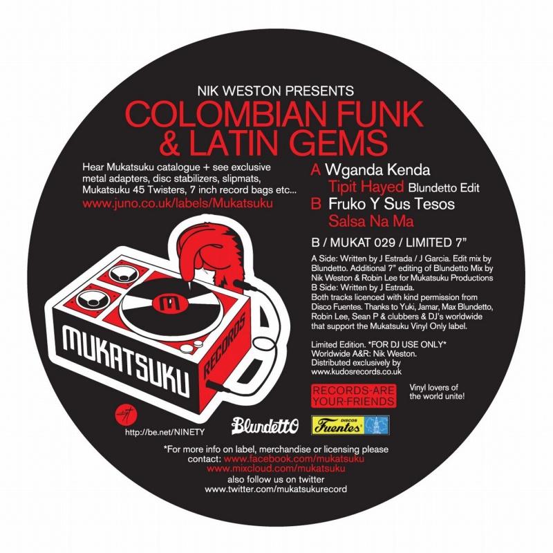 "Nik Weston/COLUMBIAN FUNK&LATIN GEMS 7"""